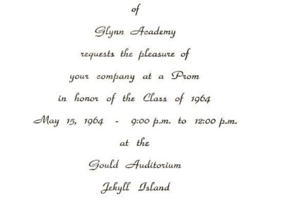 Invitation to Ralph's HS graduation, 1964